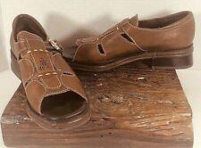Brighton Women's 'Walkaway' Shoes Brown Leather Size 9.5 Open Toe