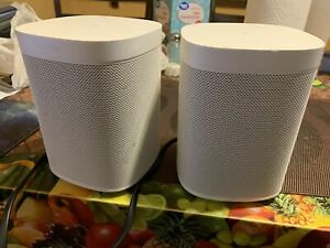 Sonos One SL Microphone-Free Smart Speaker - White  Used. Fully Working
