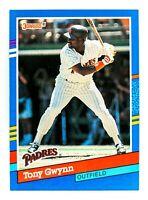 Tony Gwynn #243 (1991 Donruss) Baseball Card, San Diego Padres, HOF