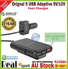 New ORICO Portable 52W 5 USB Car Charger with Fast Quick Charge 3.0 Car Charger