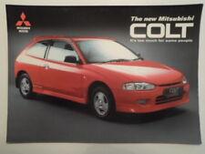 MITSUBISHI COLT HATCHBACK RANGE orig 1996 UK Mkt Sales Brochure - 1.3 1.6 Mirage