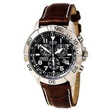 Citizen BL5250-02L Chronograph Men's Black Dial Brown Band Watch