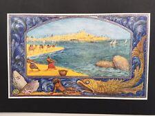 "Ze'ev Raban ""The Land of Israel"" Jewish Art Jerusalem Deco Israeli Judaica"