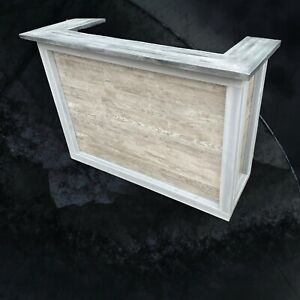 Oak Home Bar - Mane Cave Top Counter