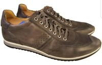 MAGNANNI MAN SHOES SNEAKERS GRAY LEATHER SIZE 13 M