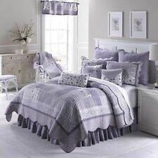 Donna Sharp Lavender Rose Quilted Country Cotton King 4-Piece Bedding Set