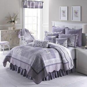 Donna Sharp Lavender Rose Quilted Country Cotton King 3-Piece Bedding Set