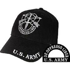 Army Special Forces De Oppresso Liber Cap Hat Black Embroidered Green Beret