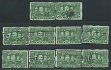 Canada #142(7) 1927 2 cent green FATHERS of CONFEDERATION 60th Ann. 10 Used