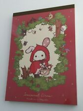 San-x Sentimental Circus Red Large Memo Pad with Stickers Stationery Kawaii