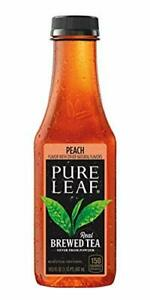 Pure Leaf Iced Tea Bottle Peach 222 Fl Oz Pack of 12