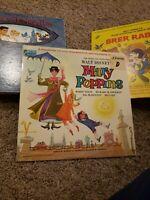 Walt Disney's May Poppins Record Album w/Book 1964 Disneyland ST 3922 Sealed