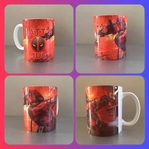 personalised mug cup Deadpool marvel Colossus angel dust Negasonic Ajax wade :)