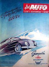 1949 + 21 + DAS AUTO + NOSTALGIC + CITROEN 2 CV + BMW R 51 + PARIS CAR SALON +