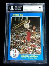 MICHAEL JORDAN 1984-85 STAR 5X7 ROOKIE CARD #26 BGS GRADED 4 BULLS CK SUBGRADES!