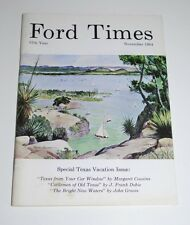 NOVEMBER 1964 FORD TIMES MAGAZINE— Texas Water Sportsman Cover by Warren Hunter