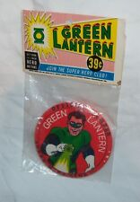 """Vintage 1966 Green Lantern 3"""" Button Pin in Original Package RARE Justice League"""