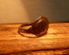 Fantastic Ancient Roman Bronze Decorated Finger Ring-Metal Detecting Find