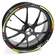 Auen Sticker Wheel Rim Yamaha MT 09 Mt-09 Mt09 Yellow Red Strip Tape Vinyl Adhes