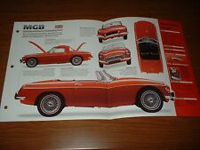 ★★1962 MGB ROADSTER ORIGINAL IMP BROCHURE SPECS INFO 62 63 64 1963 1964 MG B★★