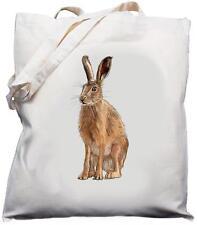 Hare Design - Natural (Cream) Cotton Shoulder Bag / Shopper /Tote