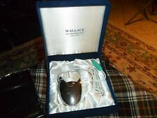 """WALLACE Silverplate COMPUTER MOUSE W/ Gift Box & Mouse Pad Monogrammed """"P"""""""