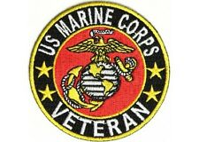 "(C51) U.S. Marine Corps Veteran 3"" iron on patch (2412D).Military Biker"
