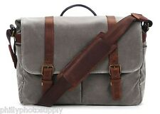 ONA Brixton Canvas Camera/Messenger Bag (Smoke) -Handcrafted Premium Stylish Bag