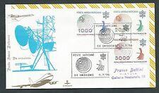 1978 VATICANO FDC KIM COVER POSTA AEREA TELECOMUNICAZIONI TIMBRO ARRIVO - BV18
