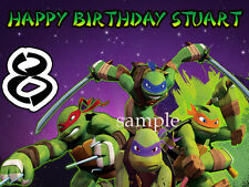 Teenage Mutant NINJA TURTLES Edible ICING Image CAKE Topper Decoration tmnt