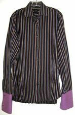 HUGO BOSS SHIRT STRIPED FRENCH CUFFS Vintage 1990's SIZE M