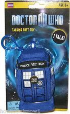 Dr Who Mini Plush talking Light-Up TARDIS - Squeeze to hear Sound FX - US Seller