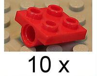 LEGO - 10 x Platte 2x2 mit einer Lochhülse rot / 2444 NEUWARE