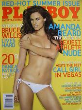 AMANDA BEARD  July 2007 PLAYBOY Magazine  DANICA PATRICK  BRUCE WILLIS