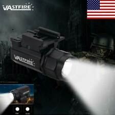 Tactical Compact Mount Flashlight For Rail Pistols Rifle Gun w/Picatinny 240Lm
