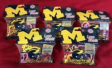 Michigan Wolverines NCAA Silly BANDZ 20 Bands Per Pack Lot Of 5 New! 100 Bands!