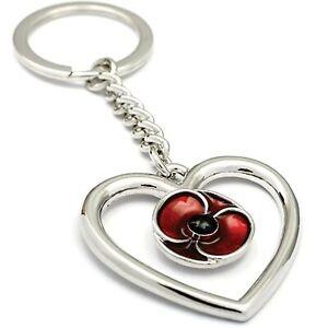 Remember Keep True Poppy Key Ring