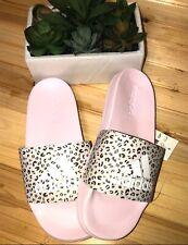 Adidas Adilette Leopard Print Shower Slide Sandals Women's Shoes Size 7 NWT