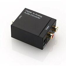Toslink /SPDIF Numerique a stereo analogique 2 x RCA convertisseur Audio-noir WT