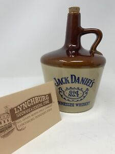 "Vintage Jack Daniels Old No 7 Tennessee Whiskey Stoneware Jug 9 1/4"" Tall (USA)"