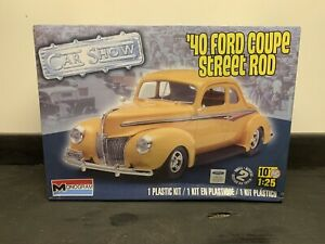 Monogram 1/25 '40 Ford Coupe Street Rod Model  Kit 85-4993 (Sealed)