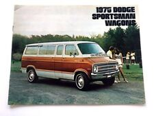 1975 Dodge Sportsman Wagon Van Deluxe Sales Brochure Catalog - B100 B200 B300