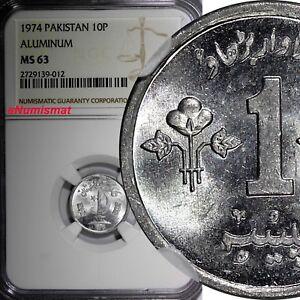 Pakistan Aluminium  1974 1 Paisa  F.A.O. NGC MS63 KM# 33