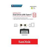 SanDisk 256GB Ultra Dual OTG TypeC USB3.1 Flash Drive On-The-Go for mobile phone