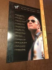 Rare WWF WWE 2001-2002 The Rock Wrestling Calendar Ad  Poster NM