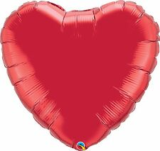 """Ruby Red Plain Round Foil Balloon 36"""" Qualatex Party"""