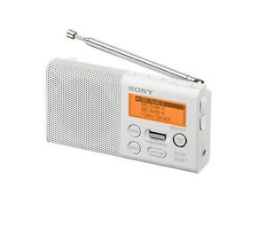 Sony XDR-P1DBPW Pocket Radio FM, DAB, DAB + Battery Operation Genuine New