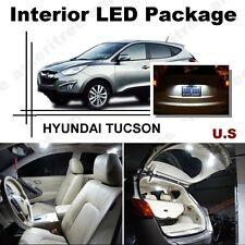 For Hyundai Tucson 2010-16 Xenon White LED Interior kit +White License Light LED