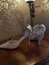 Faith  wedding shoes ivory satin size 7