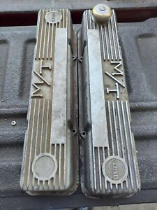 Mickey Thompson M/T small block chevy valve covers. Pair USED